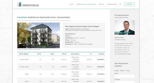 Screenshot Website IMMOVATION Immobilien